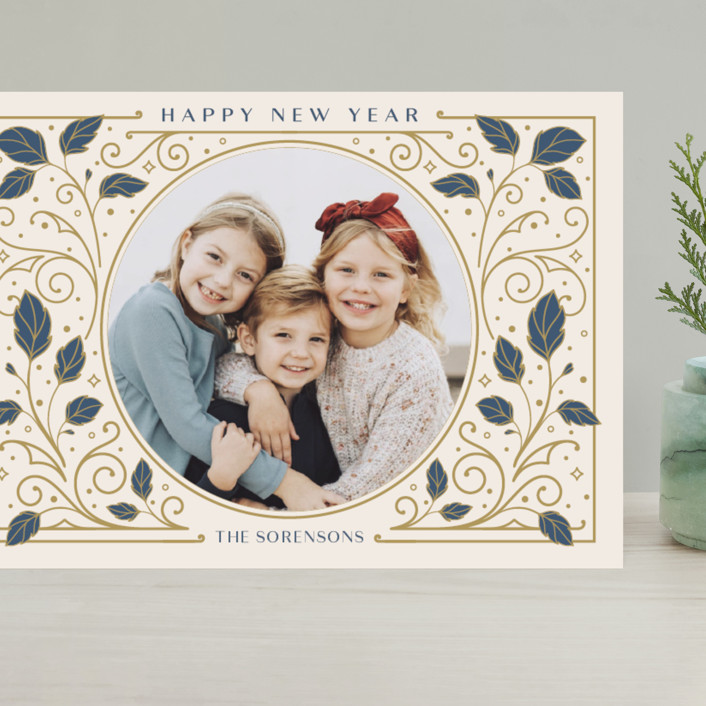 """""""Heirloom"""" - Vintage Grand Holiday Cards in Antique by GeekInk Design."""