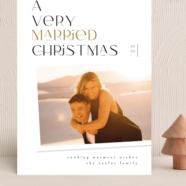 """""""Very Married"""" - Grand Holiday Cards in Champagne by Ana de Sousa."""