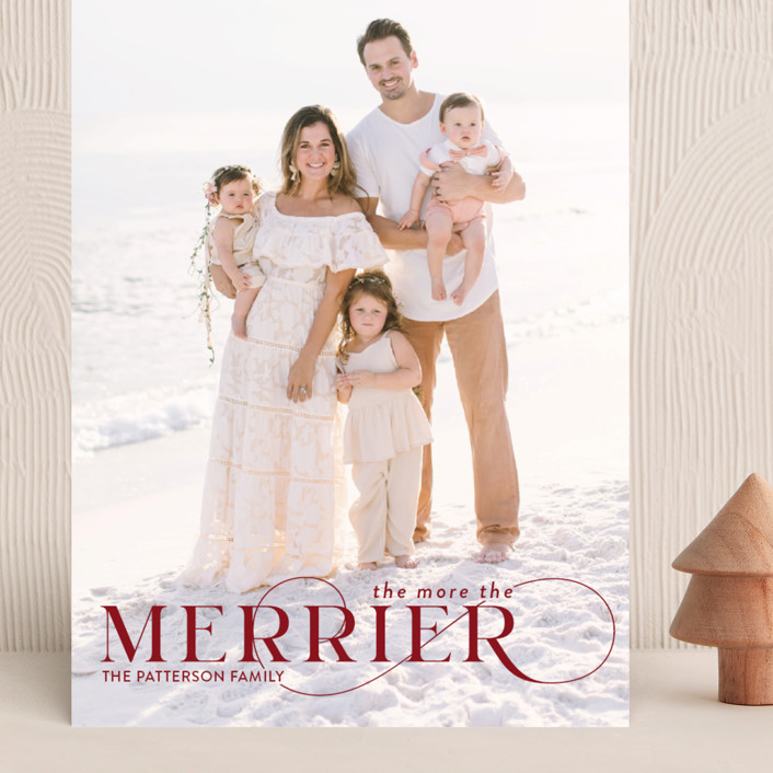 """""""More and Merrier"""" - Grand Holiday Cards in Cherry by Yaling Hou Suzuki."""