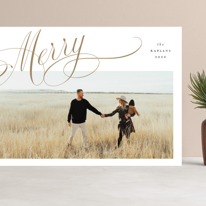 """""""Flourished"""" - Grand Holiday Cards in Wheat by Stacey Meacham."""