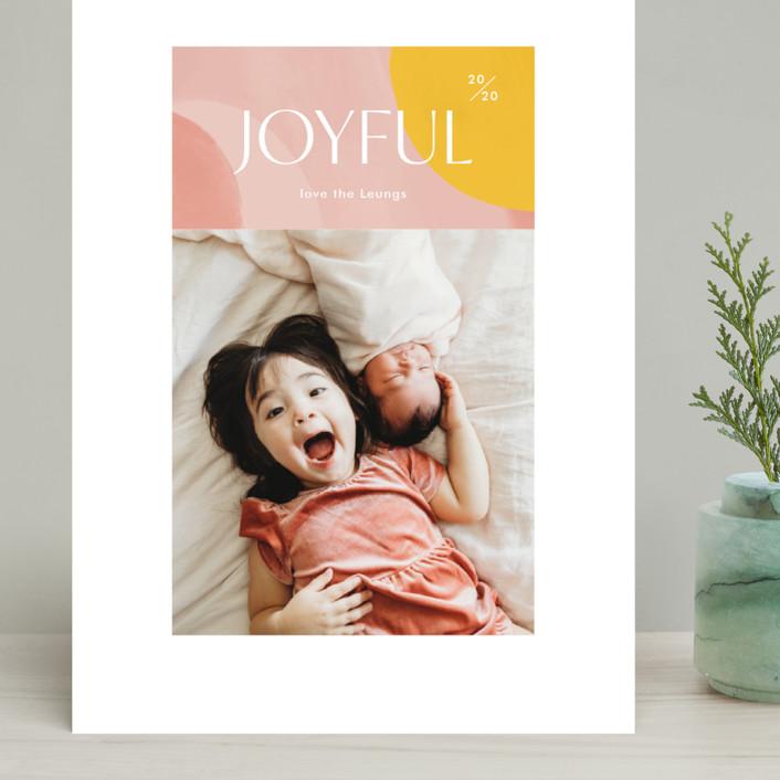 """Artsy Joyful"" - Modern Grand Holiday Cards in Candy by Monika Drachal."