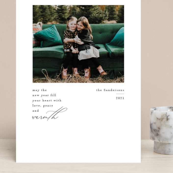"""""""Love Peace and Warmth"""" - Grand Holiday Cards in Ink by Kelly Williams."""