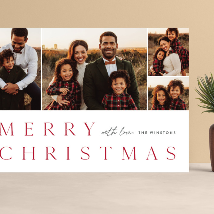 """""""Photo book"""" - Grand Holiday Cards in Holly Berry by Stacey Meacham."""