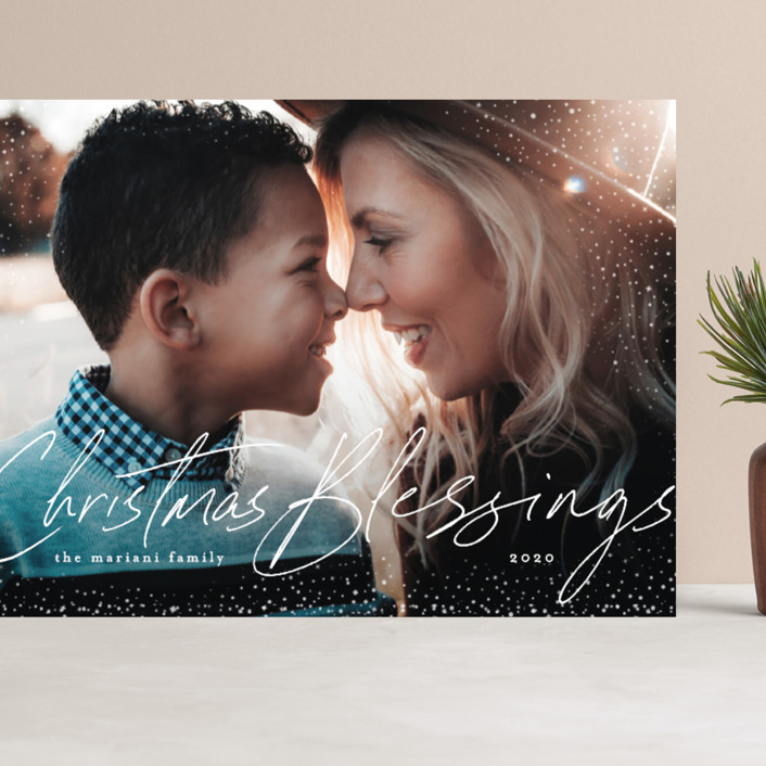 """""""Stardust of Blessings"""" - Bohemian Grand Holiday Cards in Snowman by Chris Griffith."""