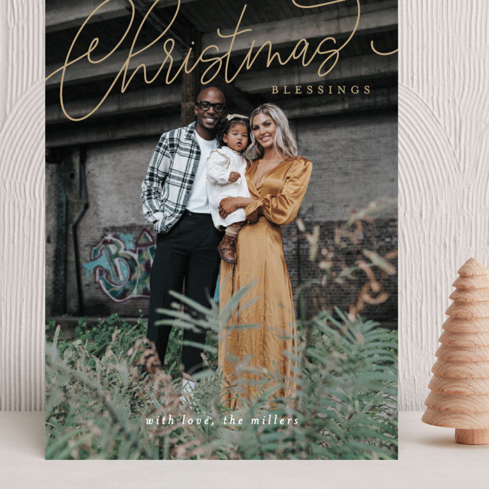 """""""Christmas Script"""" - Grand Holiday Cards in Gilded by Itsy Belle Studio."""