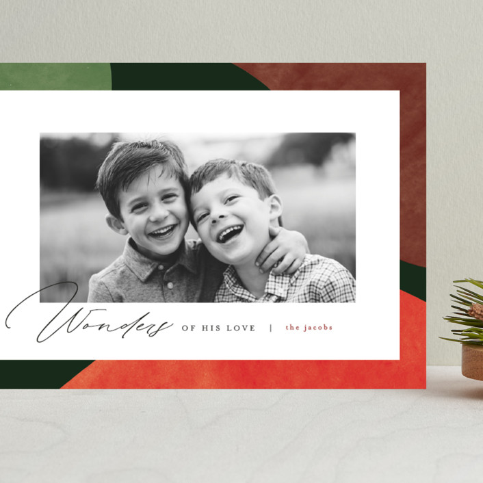"""""""Colorful Wonders"""" - Modern Grand Holiday Cards in Wreath by Pixel and Hank."""