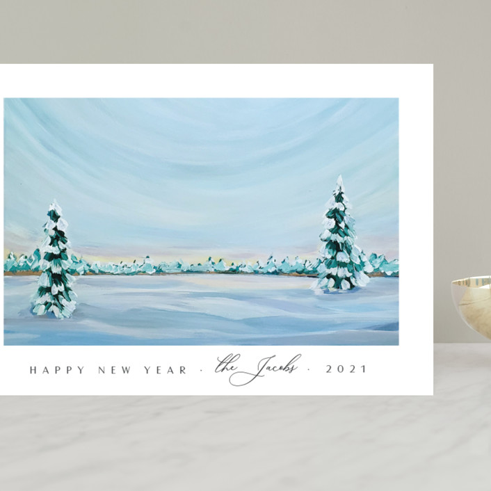 """""""Morning Light"""" - Grand Holiday Cards in Snowfall by Nicole Walsh."""