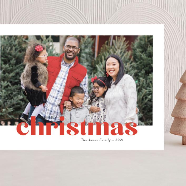 """Bold Greeting"" - Grand Holiday Cards in Santa by Susan Asbill."
