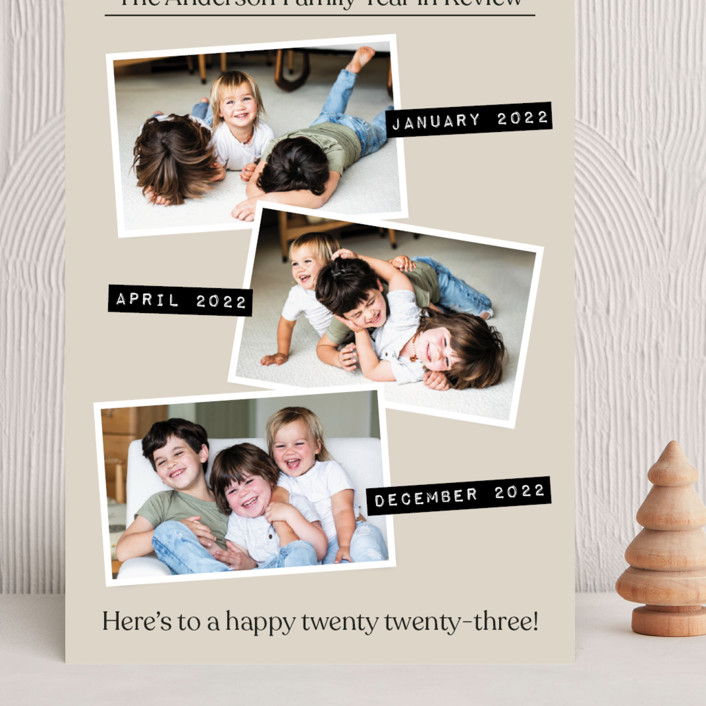 """""""Year in Review"""" - Grand Holiday Cards in Natural by Heather Schertzer."""