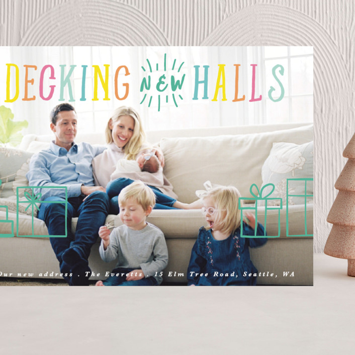 """""""Decking New Halls"""" - Vintage Grand Holiday Cards in Sunshine by Caitlin Considine."""