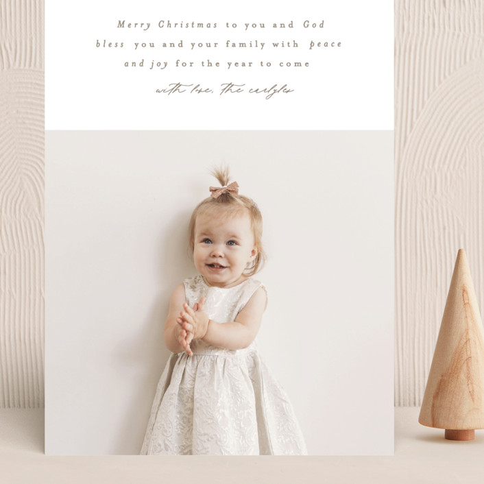"""""""Simplest"""" - Grand Holiday Cards in Coffee by Phrosne Ras."""