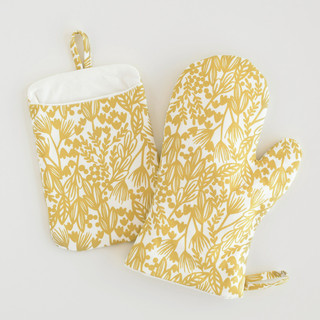 Bold Botanical Mitt & Pot Holder Set