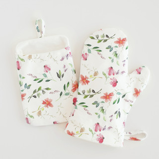 Spring Wildflowers Mitt & Pot Holder Set