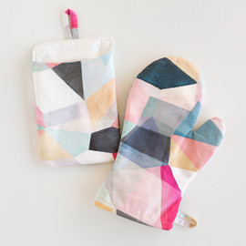 This is a colorful apron by Hooray Creative called Kaleidoscope No.1.