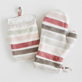 This is a colorful apron by Wildfield Paper Co. called Candy Cane Stripes.