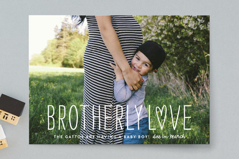 Brotherly Love Pregnancy Announcements