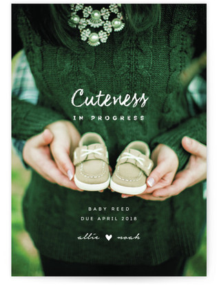 Cuteness In Progress Pregnancy Announcements