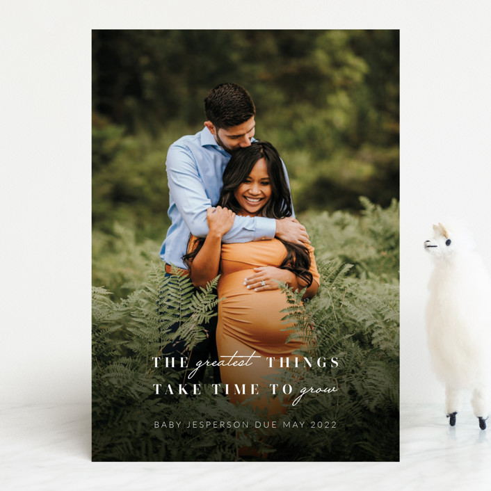 """""""Growing"""" - Pregnancy Announcements in Graphite by Mayflower Press."""