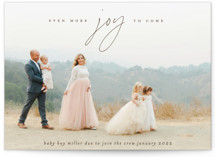 This is a brown pregnancy announcement by Ekko Studio called More Joy with standard printing on doublethick in standard.