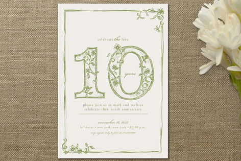 Sweet Sketch Anniversary Party Invitations