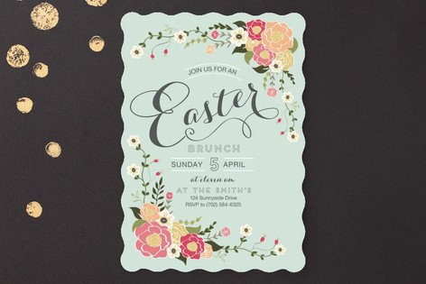 Springtime Easter Brunch Party Invitations