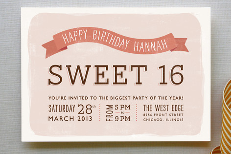 Sweet Type Party Invitations