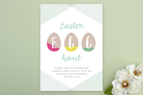 Easter Egg Dipped Party Invitations