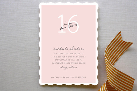 Sweet Chic Milestone Party Invitations