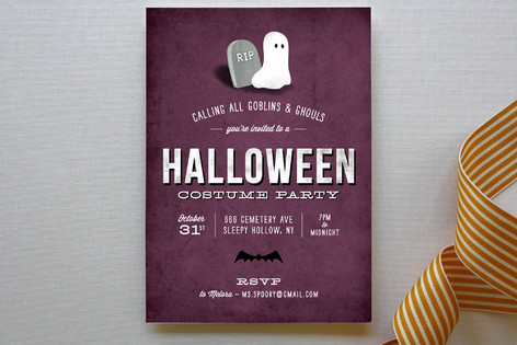 Spooky Soiree Party Invitations