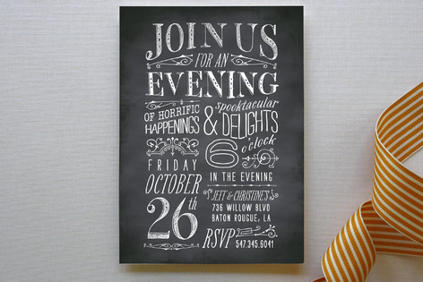 Chilling Chalk Party Invitations