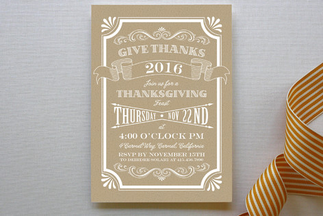 Craft Thanksgiving Party Invitations