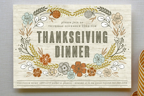 Dinner in the Field Party Invitations