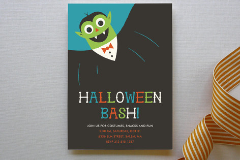 Monster Halloween Party Invitations