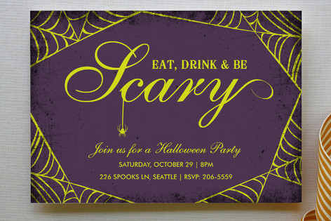 Spirited Halloween Party Invitations