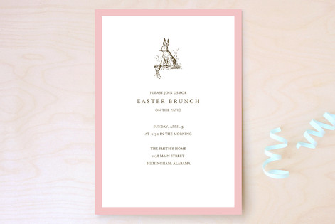 Classic Bunny Party Invitations by Toast Laurel – Classic Party Invitations