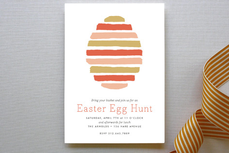 Striped Egg Party Invitations