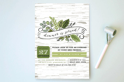 Birch Bark Woods Party Invitations