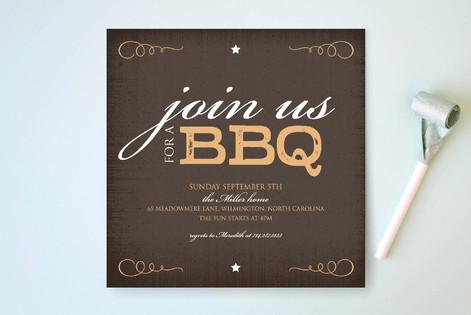 Rustica BBQ Party Invitations