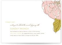 This is a pink party invitation by Oscar and Emma - Karly Depew called Simple Sophisticate with standard printing on signature in standard.