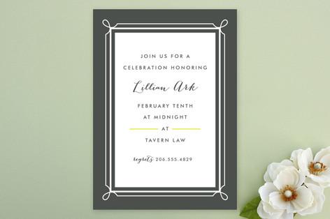 Lattice Party Invitations