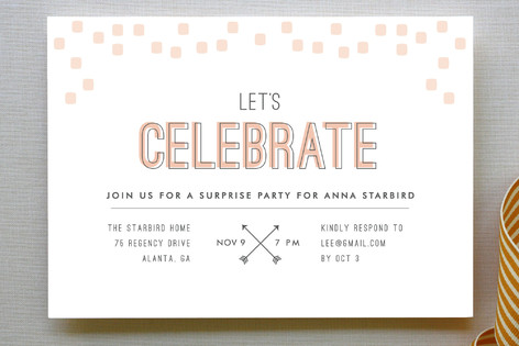 Arrowhead Pastels Party Invitations
