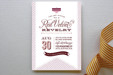 Red Velvet Party Invitations