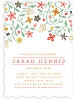 This is a pink party invitation by Yolanda Mariak Chendak called Botanical Affair with standard printing on signature in standard.