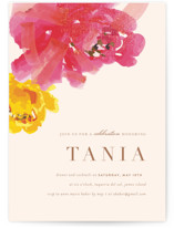 This is a pink party invitation by kelli hall called Guapa with standard printing on signature in standard.