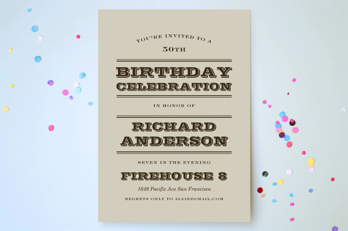 """""""Sophisticated Chevron"""" - Simple Party Invitations in Cement by leslie hamer."""