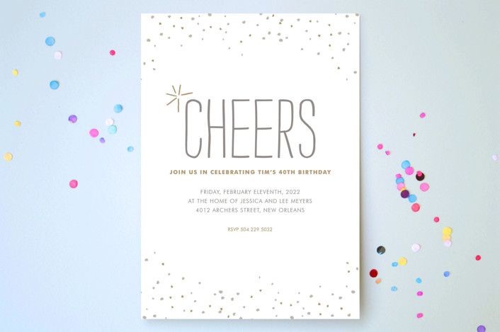 """""""Rustic Sparkle"""" - Rustic, Hand Drawn Party Invitations in Gold by Jody Wody."""
