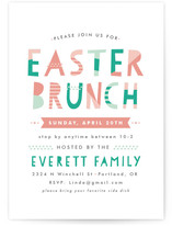 Patterned Easter Party Invitations