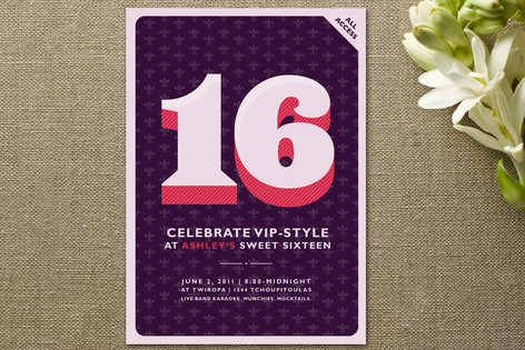 All Access Party Invitations