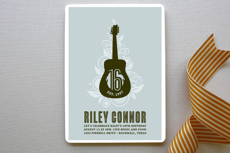 Acoustic Party Invitations