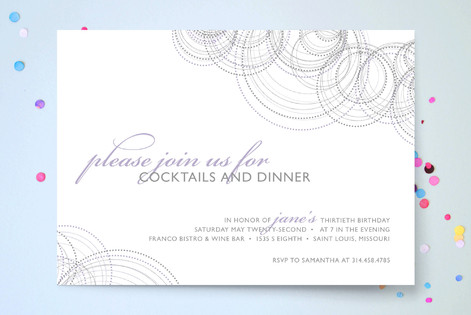 Intricate Party Invitations